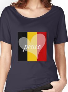 Peace for Brussels Women's Relaxed Fit T-Shirt