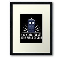 Dr Who Framed Print