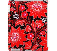 Red Neon Floral iPad Case/Skin