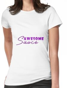Chic Purple & White Awesome Sauce T-Shirt