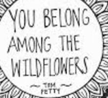 Gypsy Wildflower Tom Petty Sticker Sticker