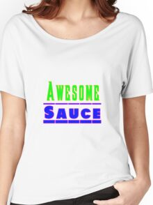 Bright Neon Awesome Sauce Women's Relaxed Fit T-Shirt