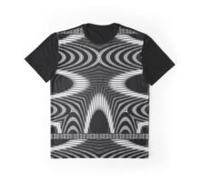 Delicate and Sculptural Black and White Jungle Print Graphic T-Shirt