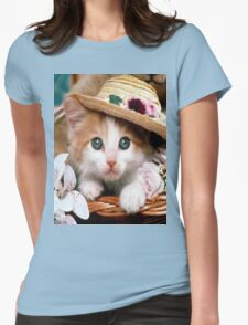 sweet cat Womens Fitted T-Shirt