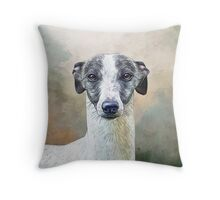 Whippet Elegance Throw Pillow
