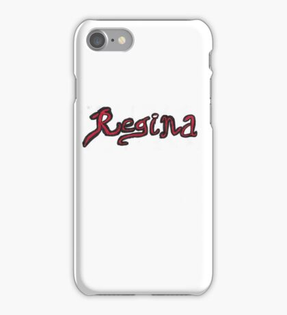 Regina OUAT - Black & Red iPhone Case/Skin