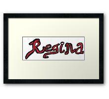 Regina OUAT - Black & Red Framed Print