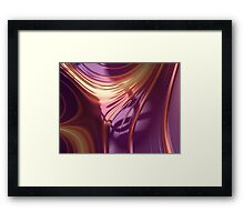 Purple Sheet Framed Print