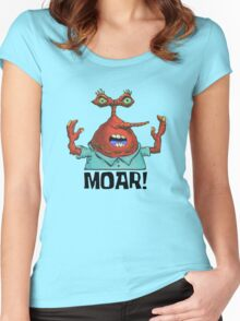 MOAR! - Spongebob Women's Fitted Scoop T-Shirt