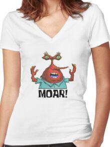 MOAR! - Spongebob Women's Fitted V-Neck T-Shirt