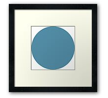 The Blue Circle Framed Print