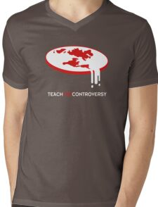 Flat Earth (Teach the Controversy) Mens V-Neck T-Shirt