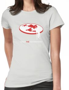 Flat Earth (Teach the Controversy) Womens Fitted T-Shirt
