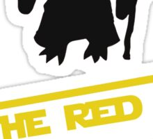 Batman v superman red capes are coming Yoda Star Wars Sticker