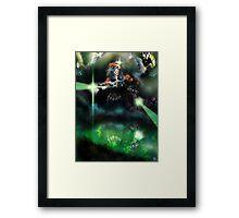 Dark Time [Digital Figure Illustration] Framed Print