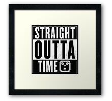 Back to the future - Straight outta time Framed Print