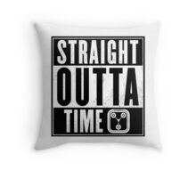 Back to the future - Straight outta time Throw Pillow