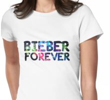 Bieber forever Womens Fitted T-Shirt
