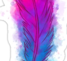 Watercolour Feather  Sticker