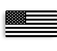 Black and White USA America Flag Canvas Print