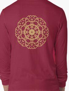 Gold pattern Mandala. Long Sleeve T-Shirt