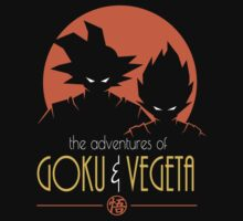 Adventures of Goku & Vegeta (orange) One Piece - Short Sleeve