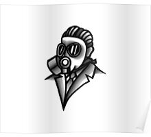 Fancy Gas Mask  Poster