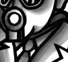 Fancy Gas Mask  Sticker