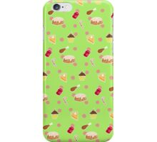 Holiday Feast on Green iPhone Case/Skin