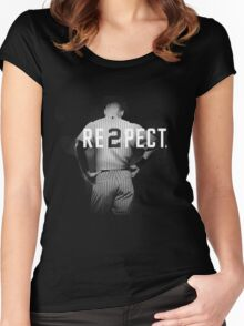Respect Derek Jeter Women's Fitted Scoop T-Shirt