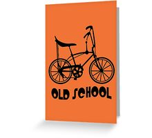 Old School Bike Fixie Bike Greeting Card
