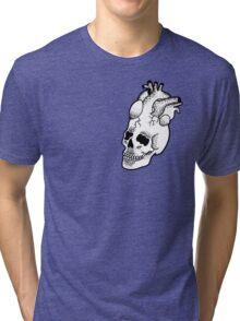Dotwork SkullHeart Tri-blend T-Shirt