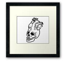 Dotwork SkullHeart Framed Print