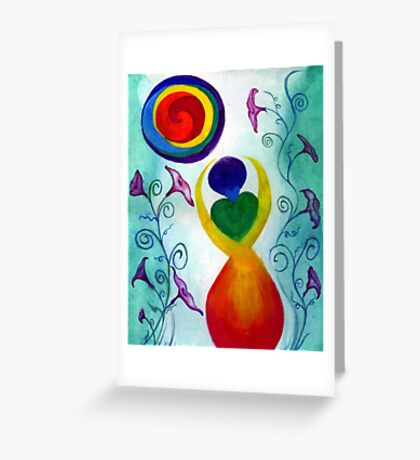 Chakra Angel Greeting Card