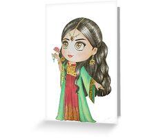 Oriental Girl 2 Greeting Card