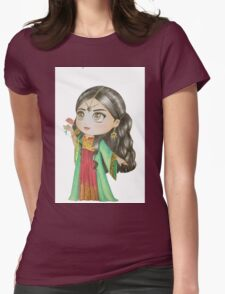 Oriental Girl 2 Womens Fitted T-Shirt