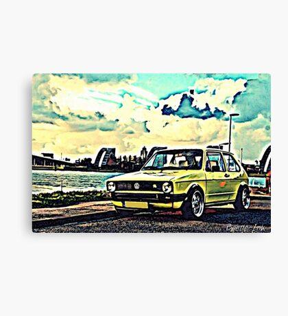 Vintage Yellow Golf Canvas Print