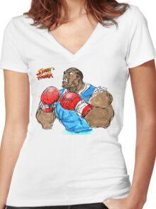 Streetfighter Balrog Women's Fitted V-Neck T-Shirt