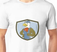 Bald Eagle Plumber Plunger Crest Cartoon Unisex T-Shirt