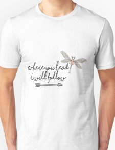 Gilmore Girls- Where you lead I will follow Unisex T-Shirt