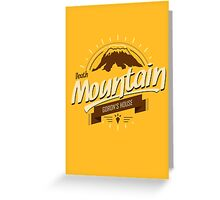 Death Mountain Greeting Card