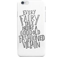 Good Old Fashioned Villain - White iPhone Case/Skin