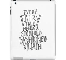 Good Old Fashioned Villain - White iPad Case/Skin
