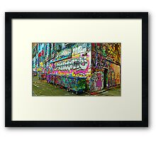 Melbourne Streetart Framed Print