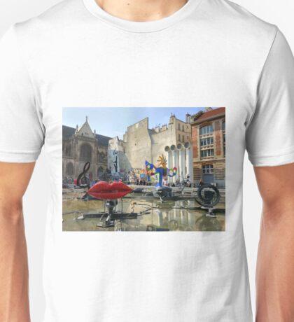 Stravinsky Fountain, Paris Unisex T-Shirt
