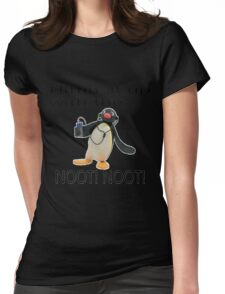 Pingu - Hitin' it up with the NOOT! NOOT! Womens Fitted T-Shirt