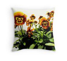 Viola 'Honey Bee' Throw Pillow