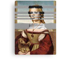 "Rafael's ""Portrait of Young Woman with Unicorn"" & Elizabeth Taylor Canvas Print"