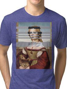 "Rafael's ""Portrait of Young Woman with Unicorn"" & Elizabeth Taylor Tri-blend T-Shirt"