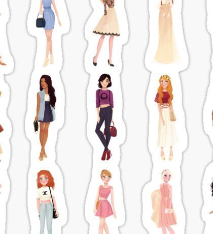 Trendy Princesses Sticker